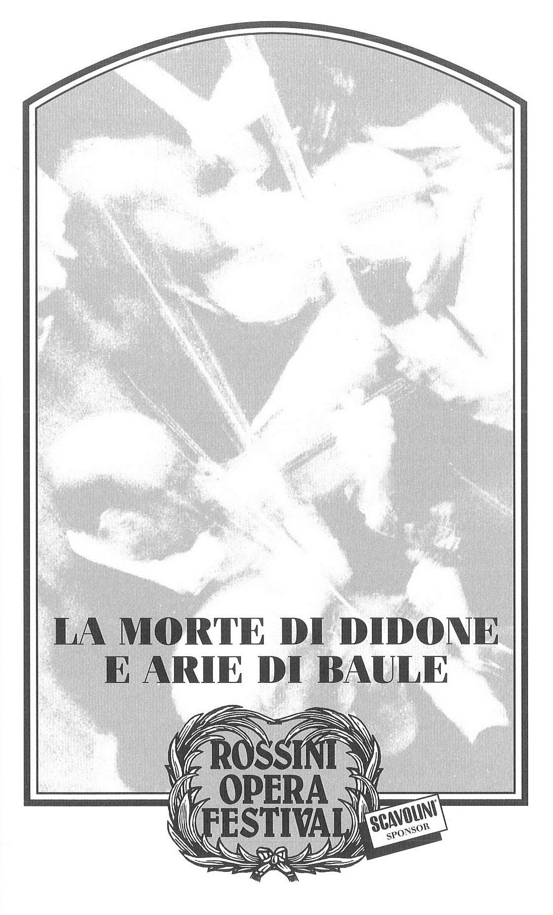 La morte di Didone e arie di baule 1996