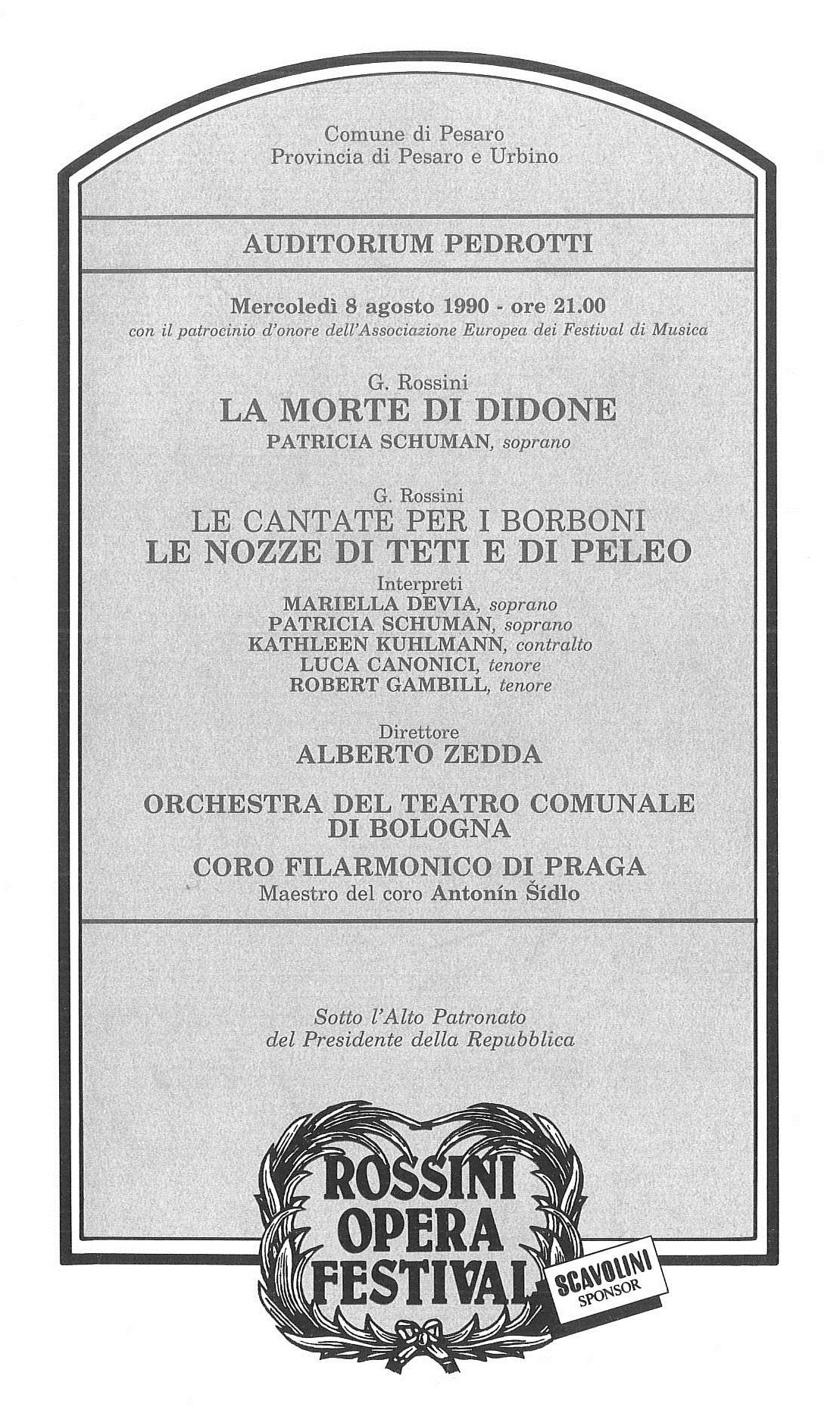 Le cantate per i Borboni_La morte di Didone_Le nozze di Teti, e di Peleo 1990