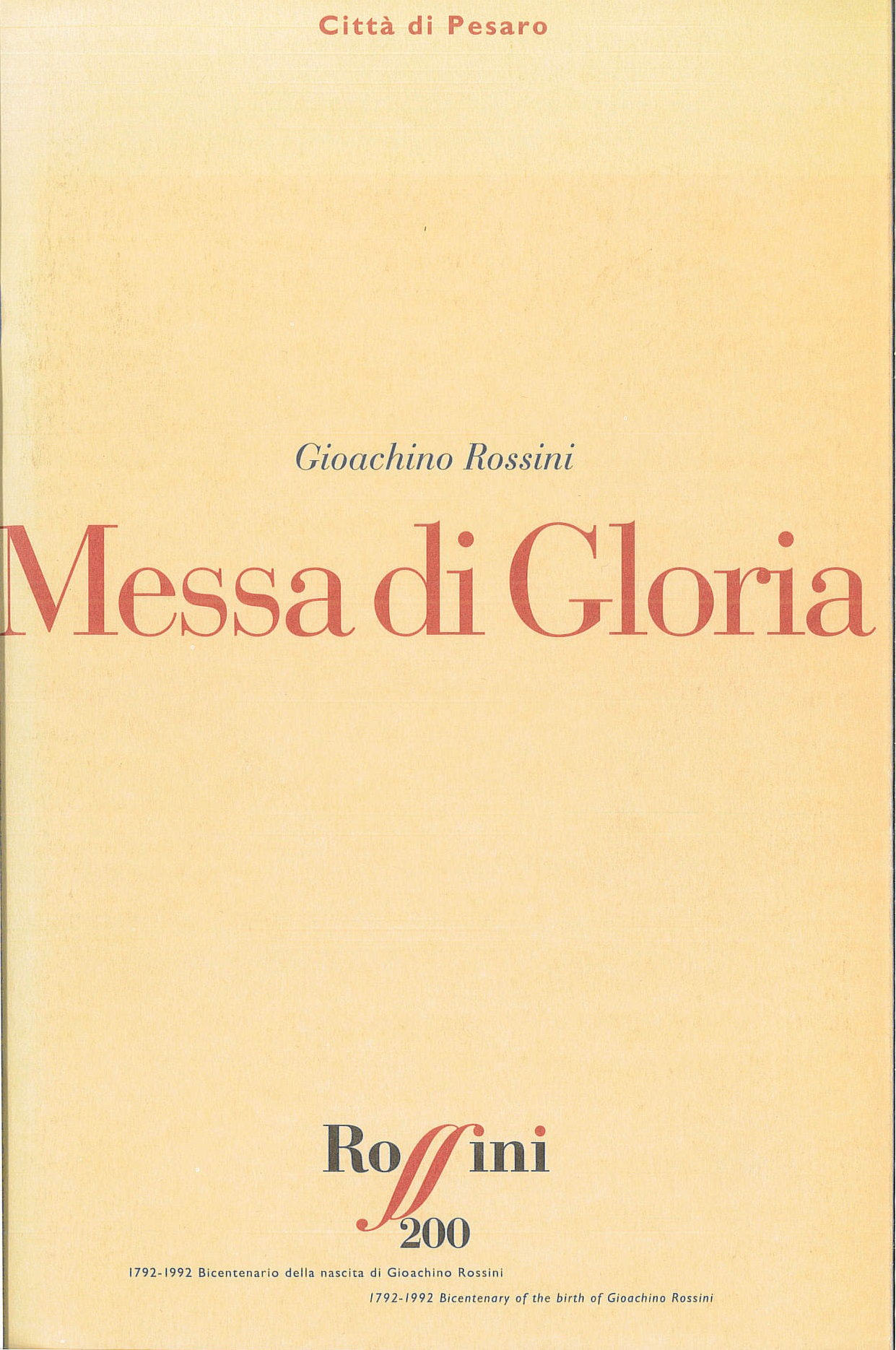 Messa di Gloria 1992
